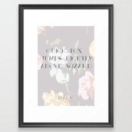 Mary Pangram Framed Art Print