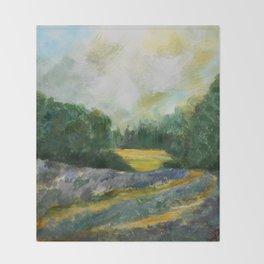 Lavender Field Throw Blanket