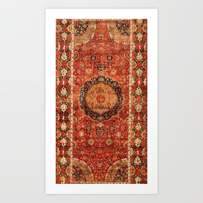 Seley 16th Century Antique Persian Carpet Print Kunstdrucke