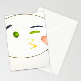 Kiss Emoji Stationery Cards