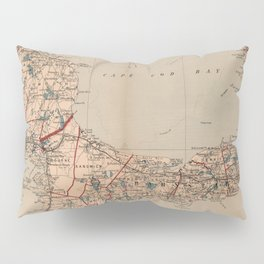 Vintage Map of Cape Cod MA (1905) Pillow Sham