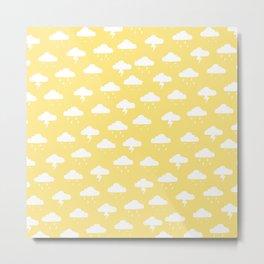 Precipitation Yellow Metal Print