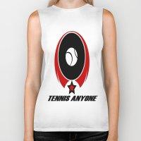 tennis Biker Tanks featuring TENNIS  by Robleedesigns