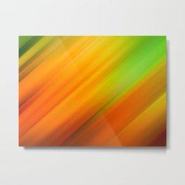 Abstract background blur motion orange green yellow Metal Print