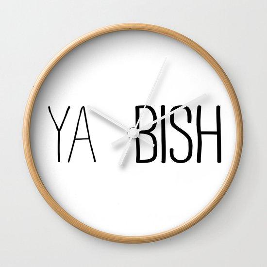 YA  BISH Wall Clock