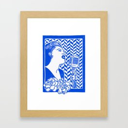 Lady Day (Billie Holiday block print) Framed Art Print