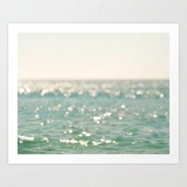 Beach Photo. Sparkle Art Print