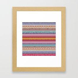 knitting pattern Framed Art Print