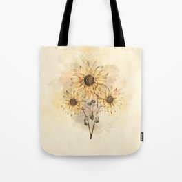 Sunflower Bouquet #floral #watercolor #society6 Tote Bag