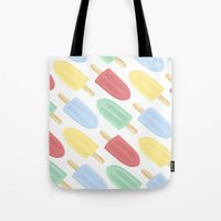 popsicle Tote Bags featuring Popsicle by Laura Barclay