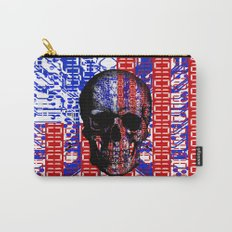 US Skull in a digital circuit. Carry-All Pouch