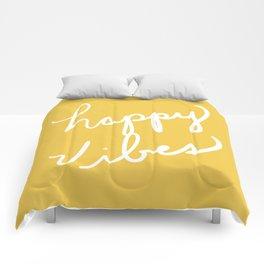 Happy Vibes Yellow Comforters