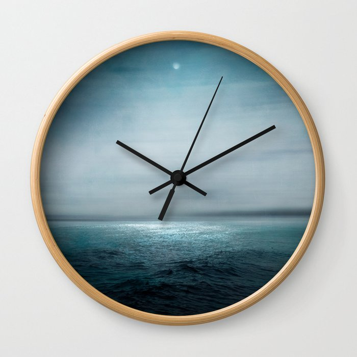 Sea Under Moonlight Wall Clock