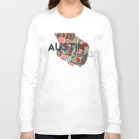 austin Long Sleeve T-shirts featuring Austin Texas + by Studio Tesouro
