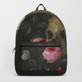 Death and Roses Jan van Kessel Vanitas Still Life Backpack