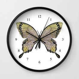 aubergine limelight swallowtail (Papilio linta) Wall Clock