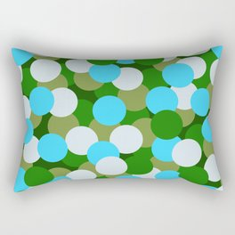 Abstraction_DOTS_GREEN_BLUE_COLOR_03 Rectangular Pillow