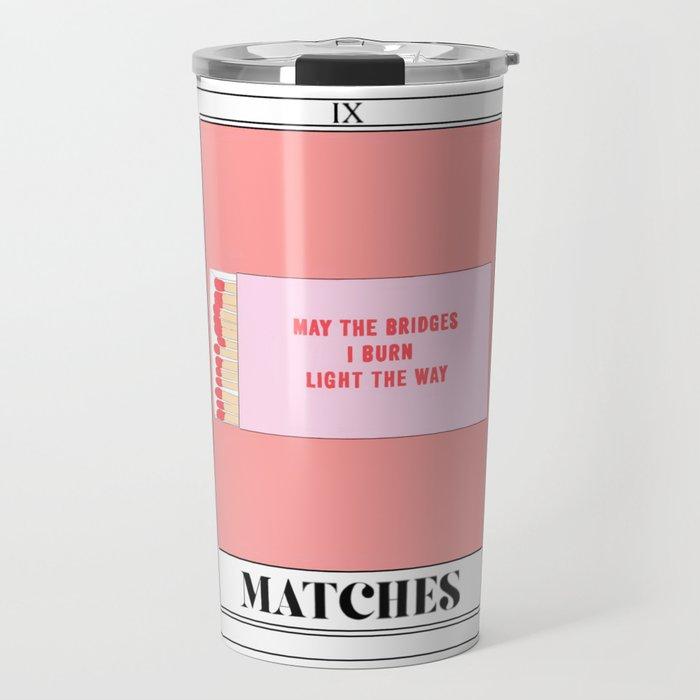 the matches tarot card Travel Mug