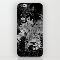 chile iPhone & iPod Skins featuring Santiago map Chile by Line Line Lines