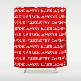 Love International Shower Curtain