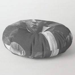 Hardscrabble City Newsboys Smoking Cigarettes black and white photograph Floor Pillow