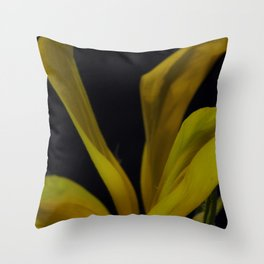 soft yellow leaves Throw Pillow