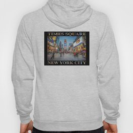 Times Square Sparkle (with type on black) Hoody