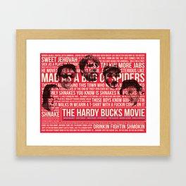 The Hardy Bucks Alternative Movie Poster Framed Art Print