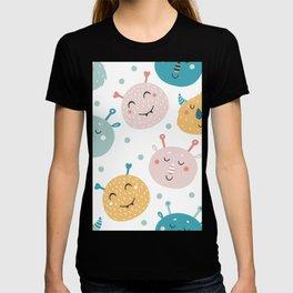Alien Critter Pattern - Kids Alien Print T-shirt