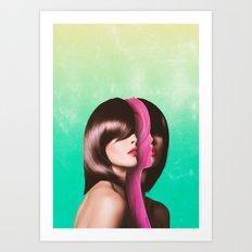 Split Hairs Art Print