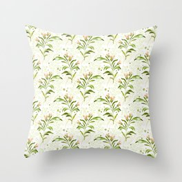 peachy serenade pattern Throw Pillow