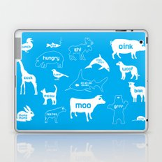 Animal Noises in Blue Laptop & iPad Skin