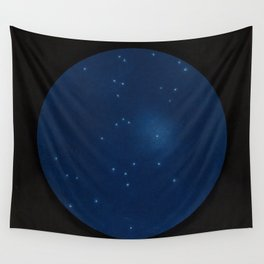 Celestial map representing the visible constellations in France - R. Barbot - 1874 Wall Tapestry