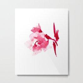 WATERCOLOR FLOWER - GLADIOLUS 2 Metal Print