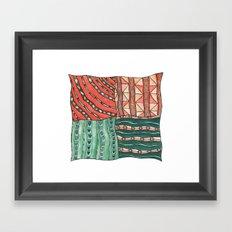 Patterned Piece #1 Framed Art Print