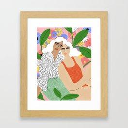 Bonding Over Plants Framed Art Print