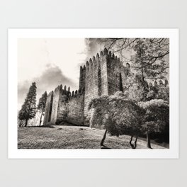 Guimaraes Castle in Portugal Art Print