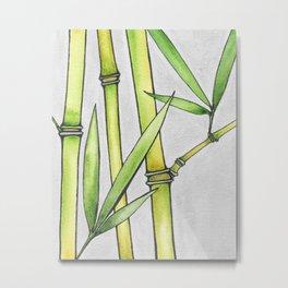 Three Bamboo Metal Print