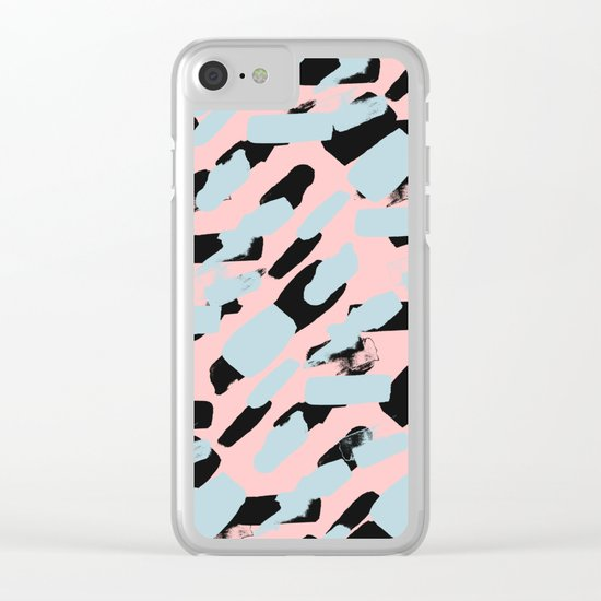 Pattern 615 Clear iPhone Case