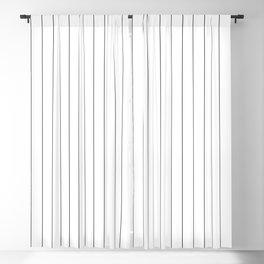 White Black Pinstripes Minimalist Blackout Curtain