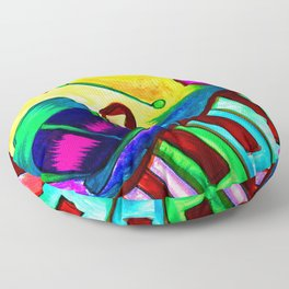 Music in color Floor Pillow