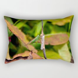 Conehead Cricket Rectangular Pillow