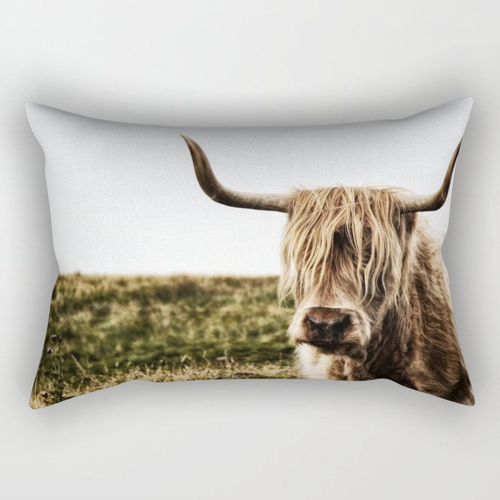 Highland Cow - color Rectangular Pillow