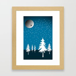 Starflakes - Winter Framed Art Print