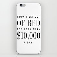 bed iPhone & iPod Skins featuring BED by I Love Decor