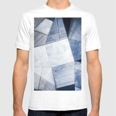 Atoms MEDIUM White Mens Fitted Tee