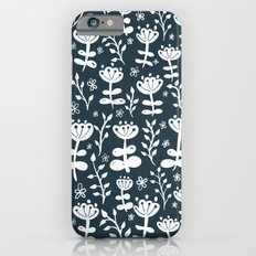 Navy Blooms Slim Case iPhone 6s