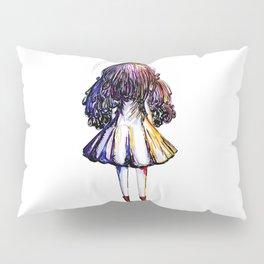 Faceless Girl and Red Doc Pillow Sham