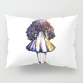 Faceless Girl and Red Doc Pillow Sham
