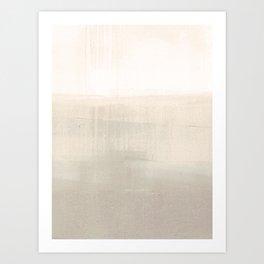 Beige and Taupe Horizon Minimalist Abstract Landscape Kunstdrucke